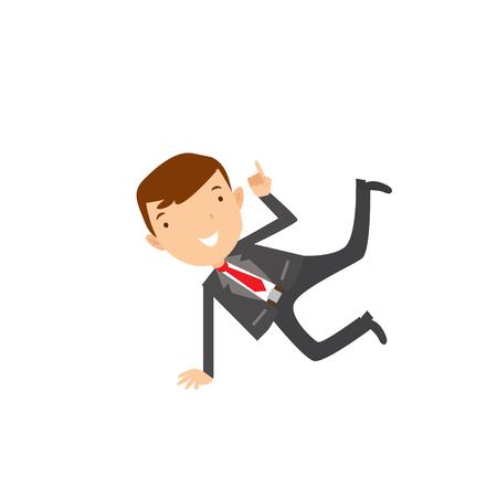 Estilo plano de negocios modernos Empleados en ropa azul oscuro. Conjunto de iconos de vector. Smile Men icono de estilo de vida. Foto de archivo - 82265466