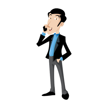 Vector Creative Illustration Business man cartoon character in casual clothes