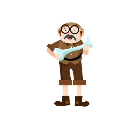 A Vector Creative Illustration Character archaeologist cute, you can use for website icon, mobile UI or business character. Illustration