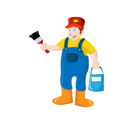 A Vector Creative Illustration Painter character Figure you can use for website figure, mobile UI or business figure.