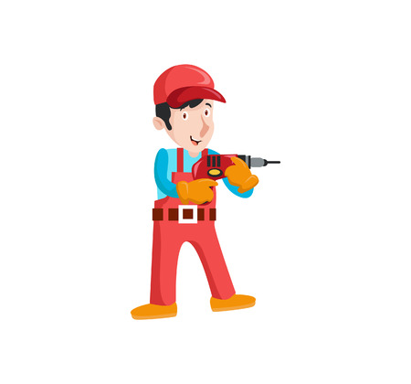 A Vector Creative Illustration Plumber with tolls you can use for business figure , mobile ui etc