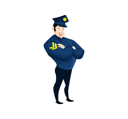 A Vector Illustration Simple cartoon of a policeman figure cool illustration.