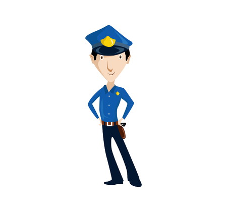 policia caricatura: A Vector Illustration Simple cartoon of a policeman figure cool illustration.