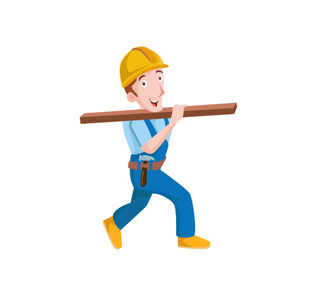 handy man: Vector Creative Illustration Plumber with tolls you can use for business figure , mobile ui etc Illustration