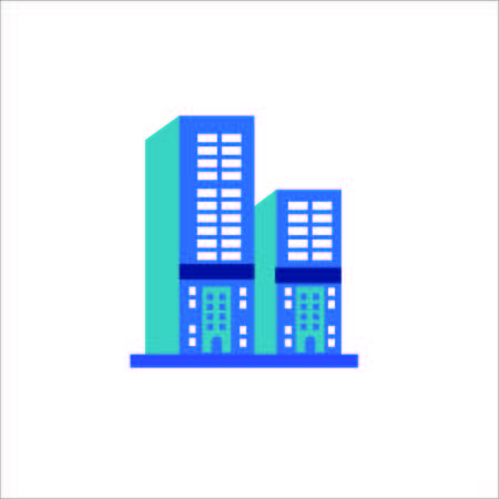 Vector Creative Illustration Tower Building logo color two tower Illustration