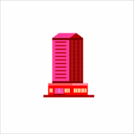 Vector Creative Illustration Tower Building logo color one tower , tou can use for business logo, company, website, monile ui etc.
