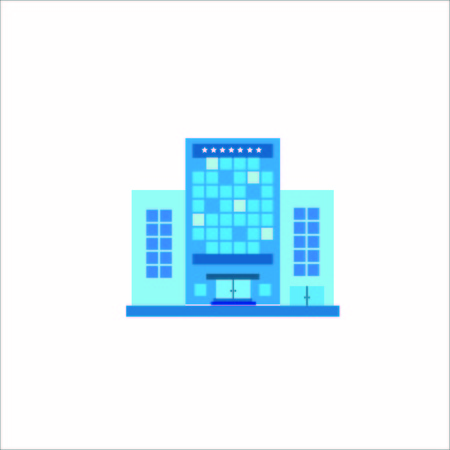 Vector Creative Illustration Tower Building logo color three tower