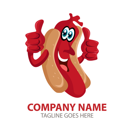 Vector Illustration Hot dog. Vector isolated flat illustration fast food for poster, menus, and more.