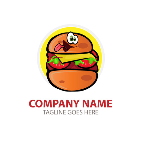 Vector illustration Burger Logo. For branding, sticker, decoration product, insignia tags Illustration
