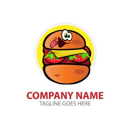 dinner party: Vector illustration Burger Logo. For branding, sticker, decoration product, insignia tags Illustration