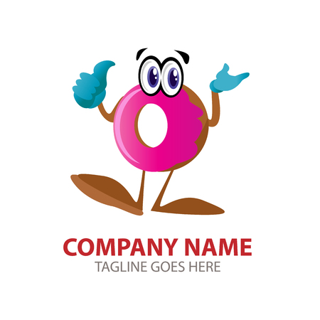 Vector Creative Illustration fanny Donut characters. cartoon style. you can use for branding, business logo, website logo, mobile UI etc.