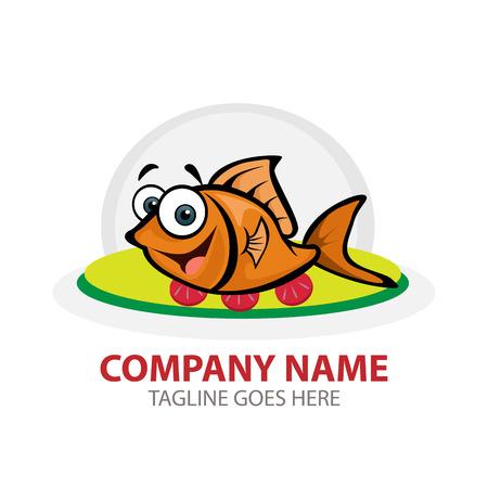 Vector Creative Illustration Goldfish logo. you can use for branding, website logo, mobile UI, business logo etc.
