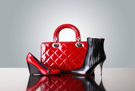 shoes fashion: shoes and handbag, fashion photo