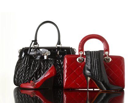 leather bag: shoes and handbag