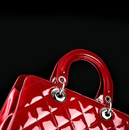 red bag: woman handbag , fashion photo Stock Photo