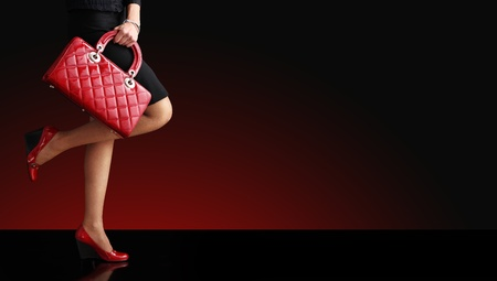 Woman sexy legs with handbag. Shopping and business  Stock Photo - 11793486