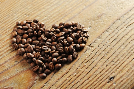 Symbol of Love, coffee beans photo