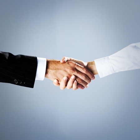shake hand: business people shaking hands Stock Photo