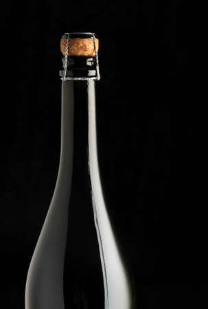 sparkling wine bottle, close up Stock Photo - 11853334