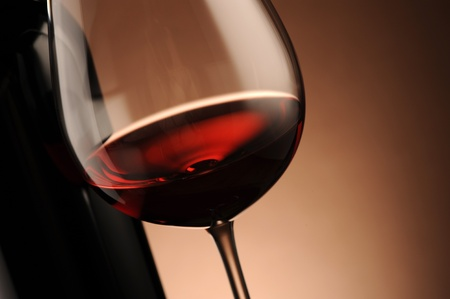 red wine glass close up, food photo Stock Photo - 11853623