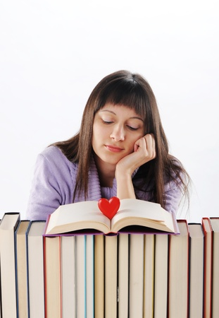 young woman Dreaming about love and romance Stock Photo - 11964317