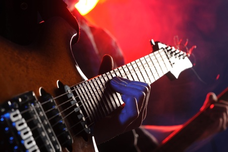 fidelity: rock musicians playing at a live concert