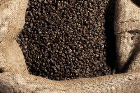 coffee sack: coffee beans in sack