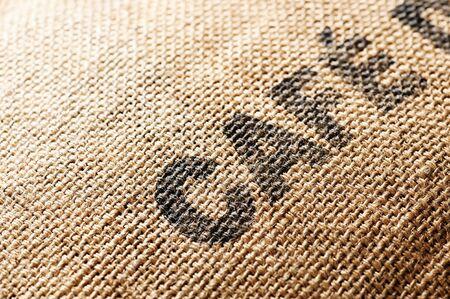 planta de cafe: Bolsa de tela de caf� de exportaci�n