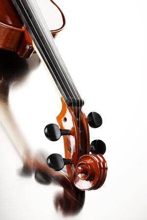 violines: Cierre de tiro de un viol�n Foto de archivo