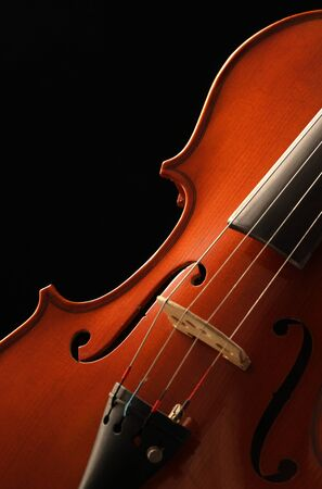 Elegant close up shot of a violin photo