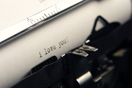 Old Typewriter: love message photo