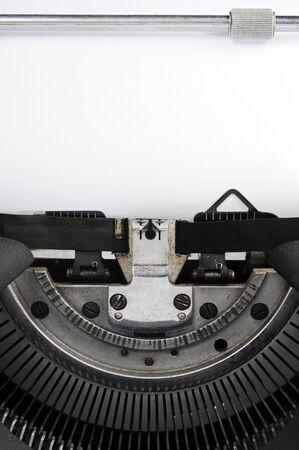 old typewriter close up: page blank photo
