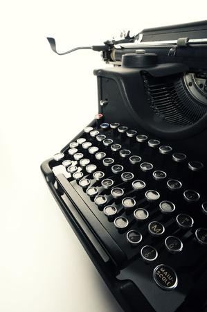 close up of  Old Vintage Typewriter photo