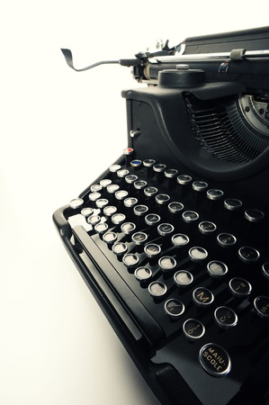 imagery: close up of  Old Vintage Typewriter