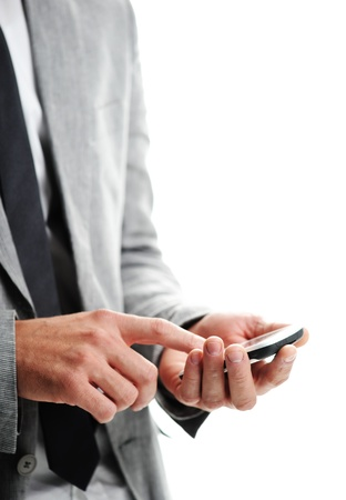 businesman with a smart phone, Closeup of hands photo