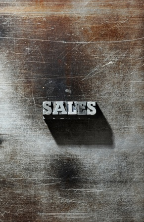 letterpress: Old Metallic Letters: sales backgrouns