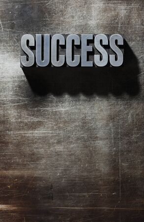 Old Metallic Letters:Success - metal background photo
