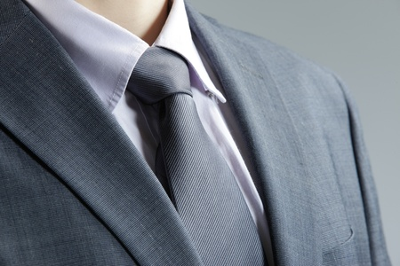 blazer: Close up of classic business attire with  tie and elegant blazer.