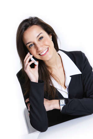 Close-up of a businesswoman talking on the mobile phone. Stock Photo - 12844287