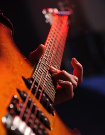 guitarists: rock guitarist close up