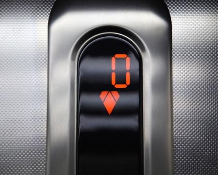 Elevator control panel. go down. photo