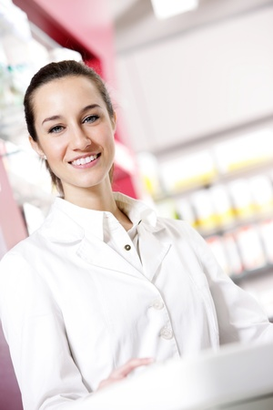 portrait of a female pharmacist at pharmacy Stock Photo - 12845013