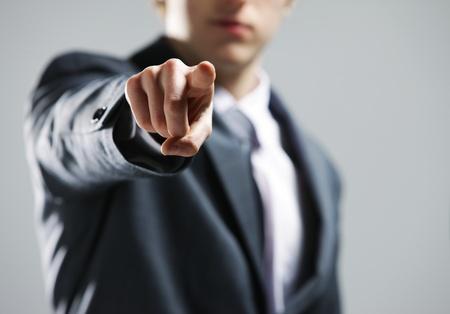 pont: üzletember, kéz rámutatva rád