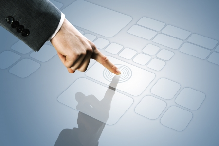 futuristic display:  touchscreen interface