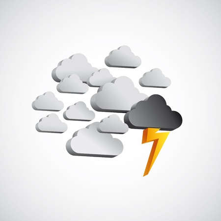 rainstorm:  clouds, storm, lightning