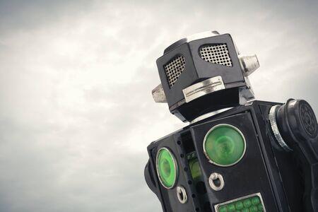 robot toy close up photo