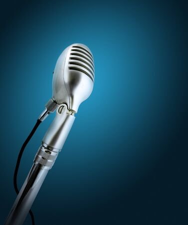Retro style microphone. photo