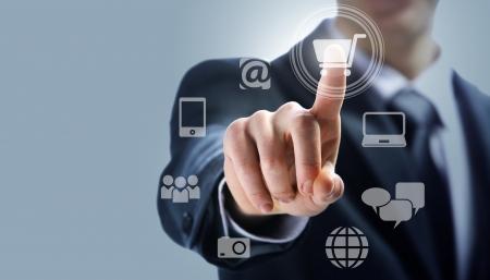 �cran tactile: interface � �cran tactile: le shopping sur Internet
