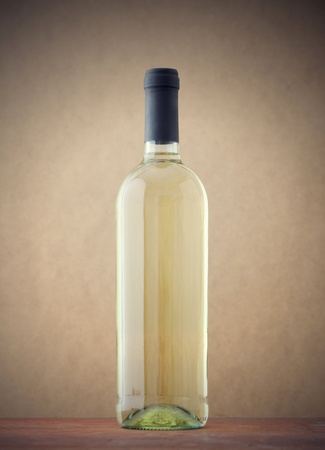 ��white wine �: Bottle of white wine Stock Photo
