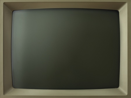 computer monitor: Old computerTV screen.